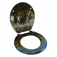 River's Edge Products Toilet Seat - Horse V Schultz