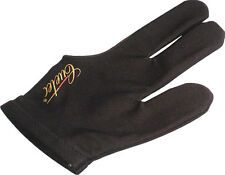 Premium Cuetec Pool Glove - Black + Cuetec Logo - 3 Finger Glove for Either Hand