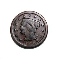 1854 Braided Hair Large Cent 1¢ Extremely Fine High Grade
