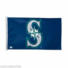 MLB Seattle Mariners 3' X 5' Flag /Banner  Indoor /Outdoor with D-Ring NEW!