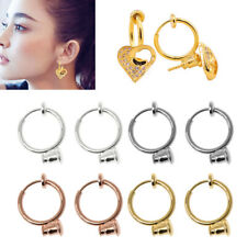 1/10Pair Clip On Hoop Earring No-pierced ConvertersTurn Any Stud Into A Clip-On