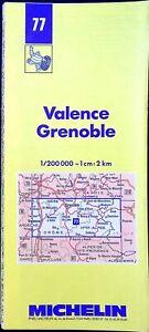 Ancienne carte Michelin collector-200 000é, Valence, Grenoble