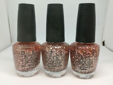 Lot of 3 Opi Nail Polish 'Pink Yet Lavender' 0.5oz x3 As Pictured See Desc New