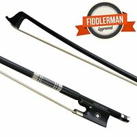 Handmade Carbon Fiber Violin Bow 4/4 - Nice Arch with Good Bounce and Action