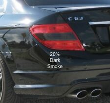2012-2014 MERCEDES C-CLASS C250 C300 C350 C63 SMOKED REVERSE LIGHT TINT OVERLAYS