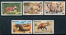 Botswana 182-6 Mnh $93.0 Wwf 1977 Claw-less otter Serval Pangolin Hyena x11542