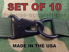 """X10 USA MADE HK H&K 1"""" Style Sling Clip Snap Hook w/ Steel D Ring Quick Release"""