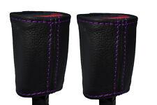 PURPLE STITCHING FITS NISSAN 300ZX Z32 90-95 2X FRONT SEAT BELT STALK  COVERS