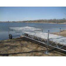 16' foot Aluminum Roll In portable Boat patio wood Dock With poly Decking
