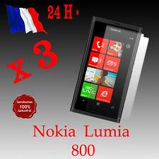 Lot x 3 : Film protection ecran NOKIA Lumia 800 + chiffon - qualité SUPERIEURE