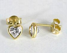 ECHT GOLD *** Herz Zirkonia Ohrstecker 5,5 mm
