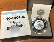 France 2013 SNOWBOARD 10 euros Silver Proof Francia € silber argent winter games