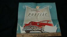 VINTAGE 1950's PONTIAC Advertising Announcement, Folded Pamphlet