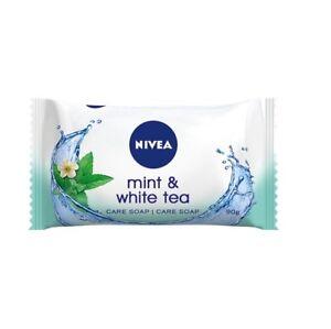 NIVEA MINT & WHITE TEA Soap Bar Hydrates & Nourishes The Skin 90 g