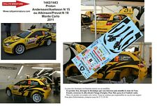Decals 1/43 Ref 1442 Proton Satria S2000 Atkinson Rally Mounted Carlo 2011 Rally