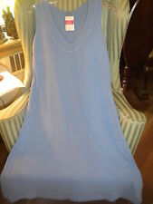 NWT FRESH PRODUCE BETWEEN THE LINES STYLE V-NECK DRESS IN  PERIWINKLE (M).