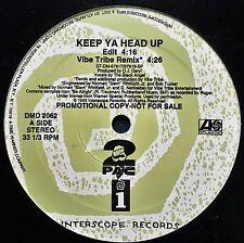 TUPAC SHAKUR 2 PAC VIBE TRIBE INTERSCOPE KEEP YA HEAD UP 4 MIX LP! NMINT VINYL