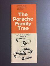"1977 Porsche ""The Porsche Family Tree"" Showroom Sales Brochure RARE Awesome L@@K"
