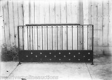 Antique 5x7 Glass Plate Negative SW Pennsylvania Wrought Iron Railing Section