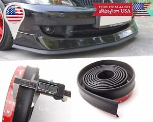 "1.3"" Rubber EZ Fit Flex Bumper Lip Splitter Chin Spoiler Protector for Dodge"