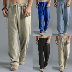 Mens Joggers Casual Baggy Trousers Jogging Sweatpants Sports Bottoms Yoga Pants