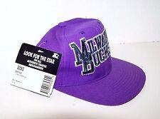 Vintage Milwaukee Bucks NBA Starter Snap Back Hat Rare 100% Wool Tri Power 3