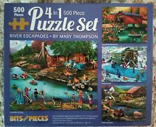 4 500 PIECE PUZZLES RIVER ESCAPES By MARY THOMPSON 4 IN 1 Jigsaw Puzzles