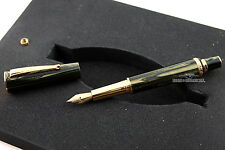 Delta Celluloid Diamond,Ruby & Emerald Papillon Le Matching # Fountain Pen Set