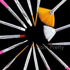 15 tlg Nagel Kunst Nagellack Malerei Pinsel Set Nail Art Acryl UV Gel Brush