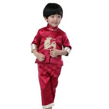 Baby Boys Clothes Set Embroidery Dragon Tang Suit China Kungfu T-shirt Pant