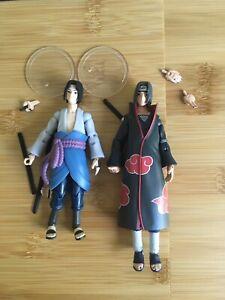 """Toynami Naruto Sasuke Itachi Figure Lot 4"""""""