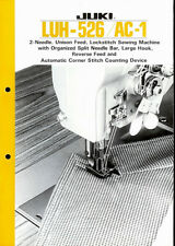 Juki LUH-526/AC-1 Industrial Sewing Machine Original Factory Dealer Brochure