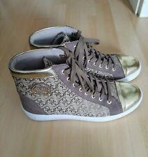 Guess Halbschuhe Sneaker 39 Gold Braun Logo Damen