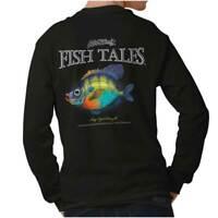 Gill McFinn's Fish Tales Bug Eyed Bluegill Long Sleeve Tshirt Tee for Adults