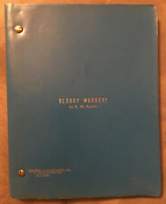 Bloody Murder! By K.M. Kynion 1981 Scrpt Screenplay 108 Pages