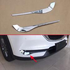 Accessories For Mazda CX5 2017 2018 Chrome Foglight Fog Lamp Strips Trims