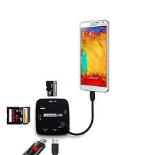 OTG HUB USB SD TF Card Reader for Samsung Galaxy S4 S5 S6 s7 Note 3 4 5 LG SONY