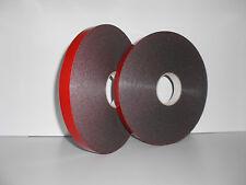 1 Rolle Spiegelklebeband doppelseitiges Klebeband Doppeltape schwarz 19mm x 50m
