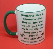 drug weed mug cannabis stoner rude funny cheeky free gift box novelty boyfriend.