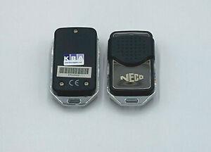 2 X Neco remote Control for Roller Shutters / Garage Door 433MHz - Version One