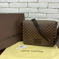 100% Authentic Louis Vuitton Crossbody Brooklyn Brown Damier Ebene Unisex