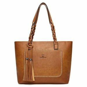 Women Purse Handbags Women Bags Designer Laptop Hand Bag Tassel Plaited Large