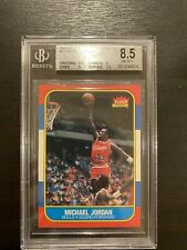 1986-87 Fleer Basketball #57 Michael Jordan RC Rookie BGS 8.5