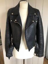 Zara Faux Leather Black Biker Jacket Size XS