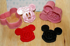 Micky & Minnie Mouse Moldes Cortadores, Sugarcraft, Decoración De Pasteles
