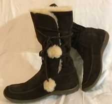 Carvela Dark Brown Mid Calf Suede Beautiful Boots Size 38 (911vv)