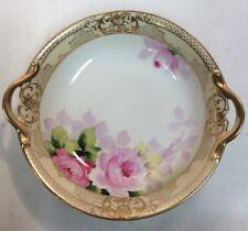 "Noritake Hand Painted 8"" Ceramic Bowl 2 Handles M Mark PreownedKitchen.com"