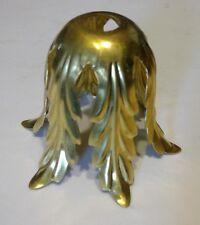 Brass Chandelier Lamp Light Fixture Acanthus Leaf Socket Cup Cover Parts