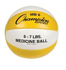 "Champion Sports 6-7lb Leather Medicine Ball Mb6 Medicine Ball 10"" x 10"" x 10 New"