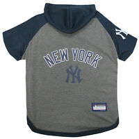 New York Yankees MLB Sporty Dog Pet Hoodie T-Shirt Sizes XS-L
